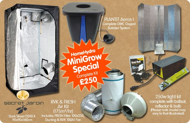 Grow Tent Kit Special & Mini Grow Special - Complete Kit! Home Hydro Hydroponics