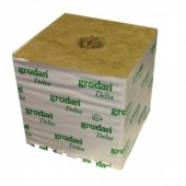 "Grodan 6"" 'Hugo' Rockwool Cube - Large Hole (priced per cube) Home Hydro"