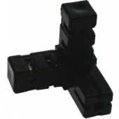 BUILDIT Black 3 Way Corner Connector - Pack of Two (Home Hydro)