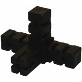 BUILDIT Black 4 Way Corner Connector - Single