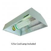 Maxibright CFL Pro Single lamp Grow Light Reflector with 125w lamp
